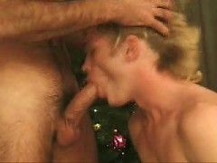 Blond honry cute gay warm cock sucking