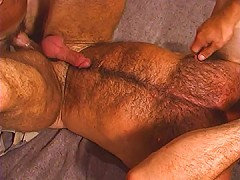 His hairy ass is filled with dick in jail