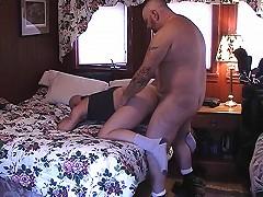 Masturbating bear sucks his buddy off