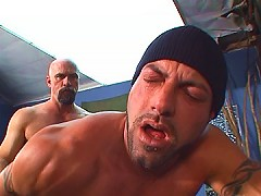 Tight studs ass filled up with hard dick
